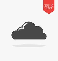 Cloud icon Flat design gray color symbol Modern UI vector image