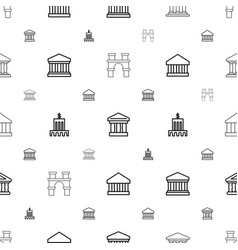 Column icons pattern seamless white background vector