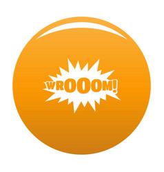 Comic boom sticker icon orange vector