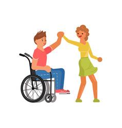 couple lovers is dancing vector image