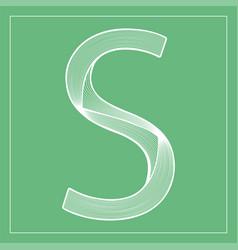 Decorative font stylized letter s vector