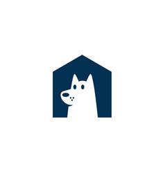 Dog house pet home logo icon vector