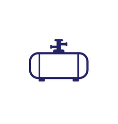 Gas tank industrial cylinder icon on white vector