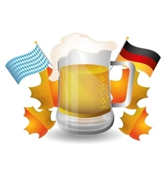 Germany cultures and oktober fest design vector image