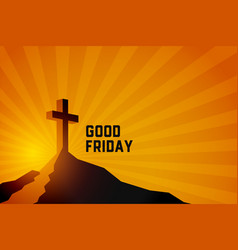 good friday resurrection jesus christ scene vector image