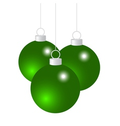Green Christmas balls vector image