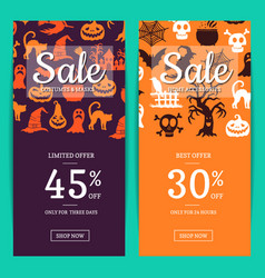 halloween sale banner templates with vector image