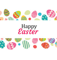 happy easter egg background templatecan be used vector image