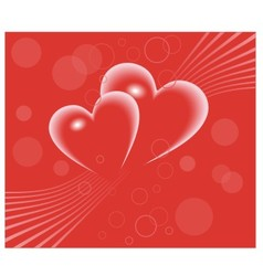hearts and strip vector image