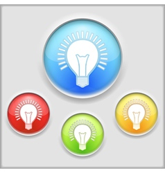 Icon of a Bulb vector image