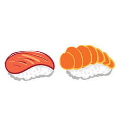 japanese sushi or color vector image