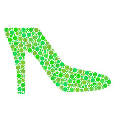Lady shoe collage of dots vector