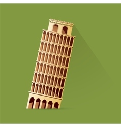 Leaning tower pisa vector