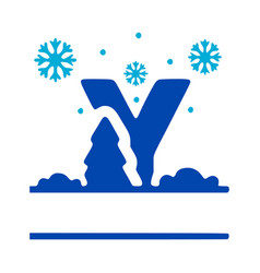 Letter y and winter composition monogram logo vector