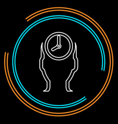 managing time icon time management vector image