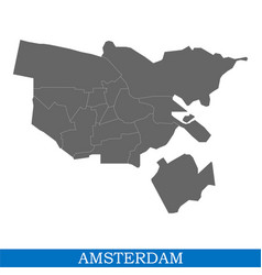 map is a city of netherlands vector image