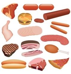 Meat set vector