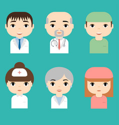 medical staff professional doctors and nurses vector image