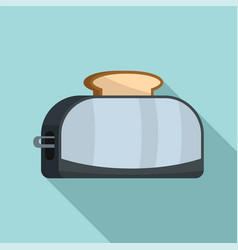 metal toaster icon flat style vector image