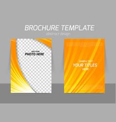Orange flyer template vector
