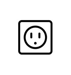 Outlet icon isolated contour symbol vector