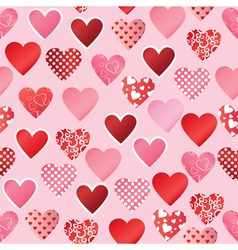Paper heart seamless background vector