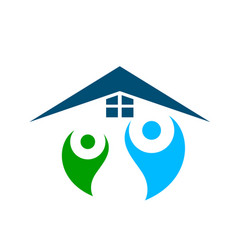 people together home logo vector image