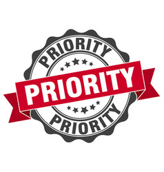 Priority stamp sign seal vector
