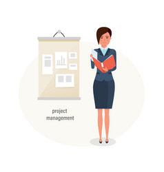 project management time management planning vector image