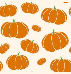 pumpkin seamless texture in trendy autumn colors vector image