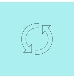 refresh reload rotation loop sign vector image