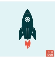 Rocket icon template vector image
