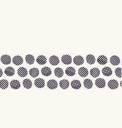 Seamless border pattern hand drawn imperfect vector