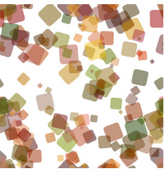 Seamless chaotic square pattern background vector