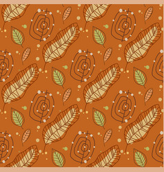seamless floral pattern with little bright green vector image