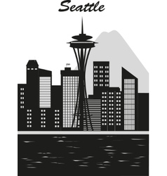 Seattle city vector image
