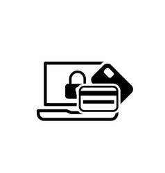 secure transaction icon flat design vector image