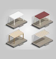 Set of garden sheds vector