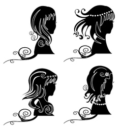 Set of women hair ornaments vector image