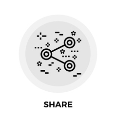 Share Line Icon vector image
