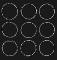 sketched circles vector image