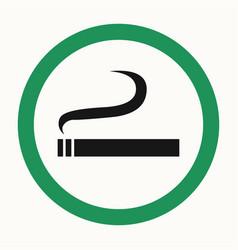 Smoking area vector