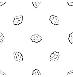 summer cloud pattern seamless black vector image