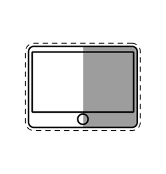 tablet device technology line shadow vector image