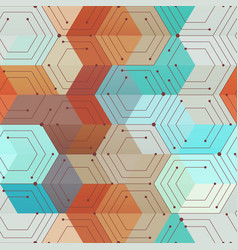 Technology geometric seamless pattern vector