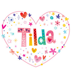 Tilda girls name vector