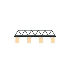 Truss bridge icon in flat style vector