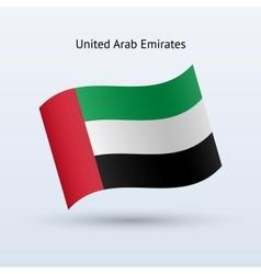 united arab emirates flag waving form vector image