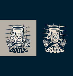 Vintage monochrome college emblem vector