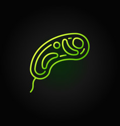 virus minimal green concept icon in linear vector image
